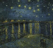 Vincent van Gogh - Starry Night (Harbor) - 1888 by forthwith
