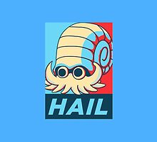Omanyte Hail the Lord Helix by KumaGenis