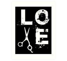 Cool Scissor Love Shears Hair Stylist T-Shirt Art Print