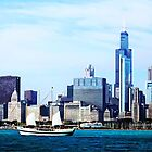 Schooner Against Chicago Skyline by Susan Savad
