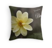 You made me blush (card) Throw Pillow