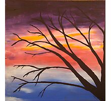 Ghost tree at dusk Photographic Print