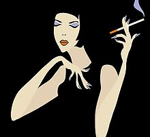 smoking woman by VioDeSign