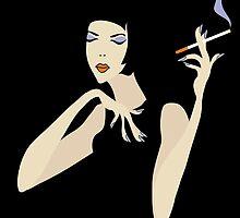 smoking woman by VioDeSign