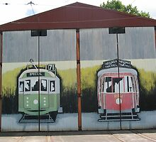 MURAL GRAFFITI TRAIN STATION  by SofiaYoushi