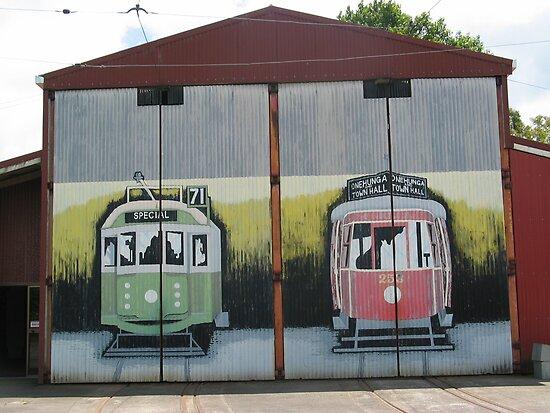 MURAL GRAFFITI TRAIN STATION  by SofiaYoushi