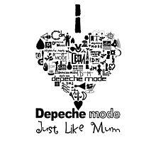 Depeche Mode : I Love DM Just Like Mum - Black Photographic Print