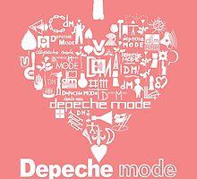 Depeche Mode : I Love DM Just Like Mom - White by Luc Lambert