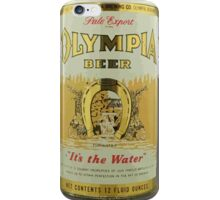 Olympia BEER. Rare. iPhone Case/Skin