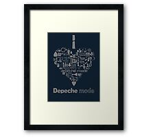 Depeche Mode : I Love DM - with text - Grey Framed Print