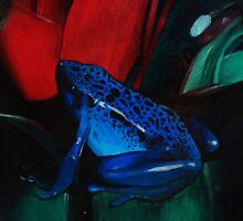 On Safari - Poison Dart Frog by Carrie Jackson