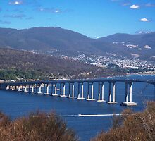 """Tasman Bridge, Hobart"" by JodieG"