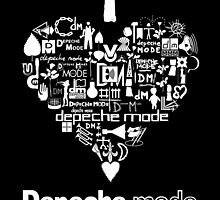 Depeche Mode : I Love DM - with text - White by Luc Lambert