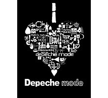 Depeche Mode : I Love DM - with text - White Photographic Print