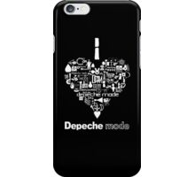 Depeche Mode : I Love DM - with text - White iPhone Case/Skin