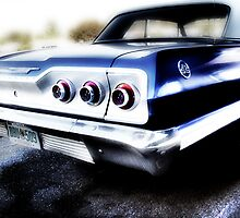 chevy impala, route 66, tulsa, oklahoma by brian gregory