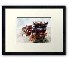cadillac ranch, route 66, amarillo, texas Framed Print