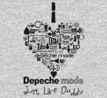 Depeche Mode : I Love DM Just Like Daddy - Black Kids Clothes