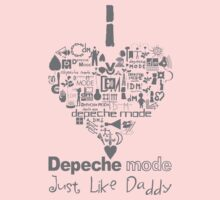 Depeche Mode : I Love DM Just Like Daddy - Grey Kids Clothes