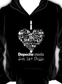 Depeche Mode : I Love DM Just Like Daddy - White T-Shirt