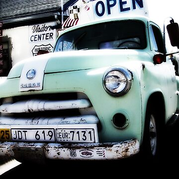 old dodge truck, route 66, seligman, arizona by brian gregory