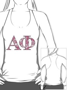 Alpha Phi Lilly Letters T-Shirt