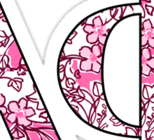 Alpha Phi Lilly Letters Sticker