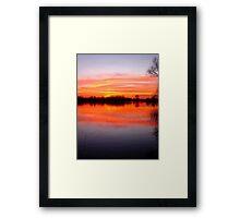Sunset Over The Lake.. Framed Print