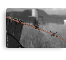 On a wire Metal Print