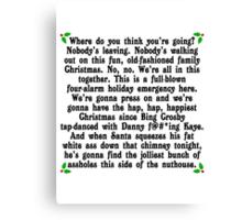 Hap, Hap, Happiest Christmas Canvas Print