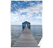 """""""Crawley Edge"""" Boatshed, Perth, Western Australia Poster"""