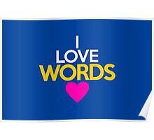 I love words Poster