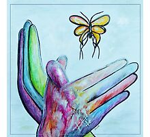 American Sign Language BUTTERFLY Photographic Print