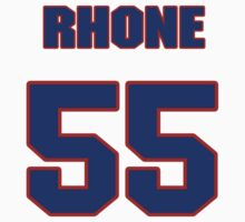 National football player Earnest Rhone jersey 55 by imsport