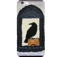 """Raven, """"Waiting for Dawn #2"""", Mixed media collage iPhone Case/Skin"""
