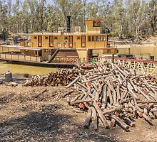 Emmy Lou paddle Steamer at Echuca by Pauline Tims