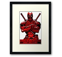 Deadpool - meet the cure Framed Print