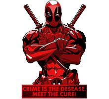 Deadpool - meet the cure Photographic Print