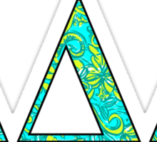 Tri Delt Lilly Letters Sticker