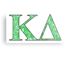 Kappa Delta Lilly Letters Metal Print