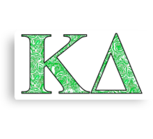 Kappa Delta Lilly Letters Canvas Print