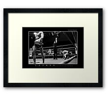 Boxing - Knock out Framed Print