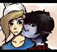 Marshall Lee and Fionna by cafethe