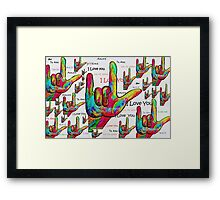 LOVE IN ANY LANGUAGE Framed Print
