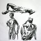 Life drawing by Freda Surgenor