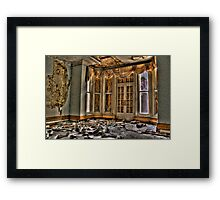 To The Patio..... Framed Print