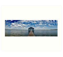 """""""Crawley Edge"""" Boatshed, Perth, Western Australia Art Print"""