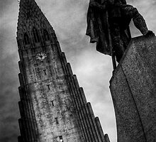 Hallgrim the viking , Reykjavik by Phil Scott