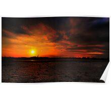Fire Island Sunset Poster
