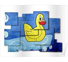 David Hockney's Shower Curtain Poster